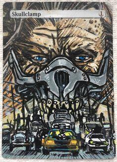 MTG Alter:  Skullclamp as Imortan Joe/Mad Max Mtg Altered Art, Magic Art, Mad Max, Magic The Gathering, Alters, Master Chief, Comic Books, Comics, Fictional Characters