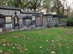 Beautiful cemetery behind St. John's Cathedral. Edinburgh
