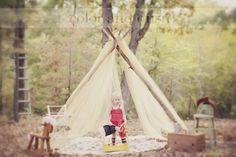 adorable teepee photoshoot @Sheila Baldwin you have to do this with E!