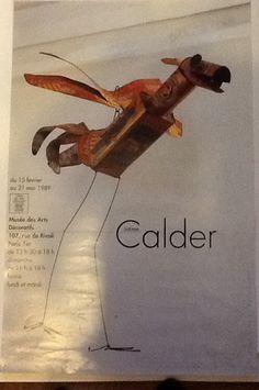 Alexander Calder Paris Exhibition tin bird poster