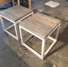Rustic Home Decor | Ana White | DIY | Shanty 2 Chic | Rustic | Shabby Chic | Coffee Table | Living Room | Reclaimed Wood | Salvaged Wood | Living Room Ideas | End Tables | Industrial Decor #HomemadeHomeDecor