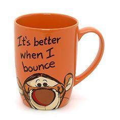 Tigger Peek-a-Boo Mug. Only Disney Store UK. And they don't ship to USA. Boo! Disney Coffee Mugs, Cute Coffee Mugs, Cool Mugs, I Love Coffee, Tea Mugs, Coffee Cups, Stars Disney, Disney Store Uk, Café Chocolate