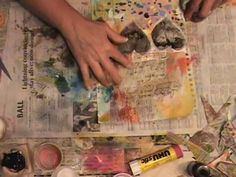 Lots of Mixed Media Videos. Watch the Process - EVERY NIGHT Journal Page. Video by Roben-Marie Smith.