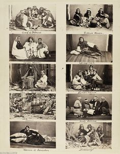 19th century photos of the people of the Sea of Galilee and Jerusalem region. 1860s. Everybody is smokin'