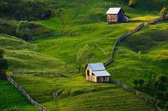 Bucovina Landscape    Near Campulung Moldovenesc, Romania.
