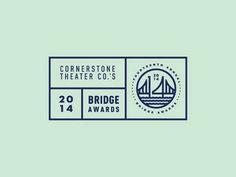 Cornerstone Bridge Awards - IDs / Logos - Typography Design Logo, Badge Design, Seal Design, Graphic Design Typography, Label Design, Branding Design, Design Design, Design Trends, Hang Ten
