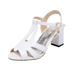 Latasa Women's Fashion T-strap Peep-Toe Mid Chunky Heel Casual Fisherman Sandals ** Read more reviews of the product by visiting the link on the image.