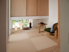 Japanese Modern House, Tatami Room, Zen Room, Natural Interior, Japanese Architecture, House Design, Living Room, Home Decor, Desk