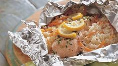24 No-Fuss Foil Packs:    Grilled Lemon and Herb Salmon Packs