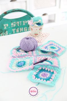 Pretty pastel crochet inspiration @ Sylloves...