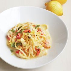 To make this pasta sing, use the         freshest, best-quality crab available, such as         jumbo lump crabmeat, Dungeness, or king         crab. Adjust the heat from the chiles and the         amount of lemon juice to your liking.