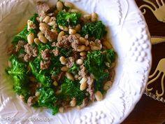 FamilyandForks   White Bean, Kale and Sausage Stew for a Quick Monday Night Dinner   http://www.familyandforks.com
