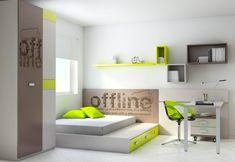 Ros Möbel Teenager-Zimmer Bett-Gästebett Akzente Limettengrün