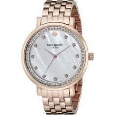 Kate Spade Women's 1YRU0822 'Monterey' Crystal Rose-Tone Stainless Steel Watch Deal