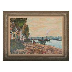 """Spanish Coast"", Large Oil Painting, c. 1920's"