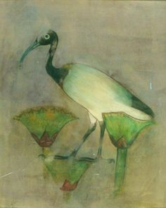 Ancient ibis painting copied by Howard Carter from a tomb in Egypt.