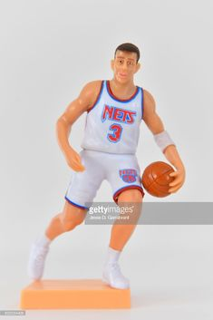 The Brooklyn Nets honor Drazen Petrovic with a bobble head prior to the Brooklyn Nets against the Chicago Bulls on February 26,2018 at Barclays Center in Brooklyn, New York on Drazen Petrovic night.