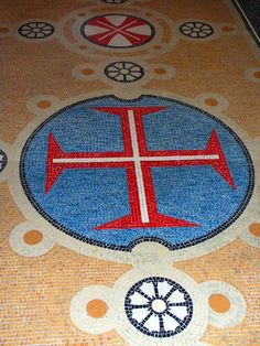 "Must see Portugal: ""The Templars Cross"" on the Chapel's Floor.  Quinta da Regaleira- Portugal"