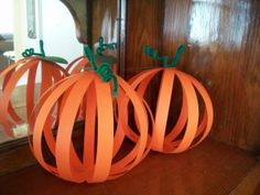 Simple Paper Pumpkin Craft for Kids - - Pinned by @PediaStaff – Please visit http://ht.ly/63sNt for all (hundreds of) our pediatric therapy pins