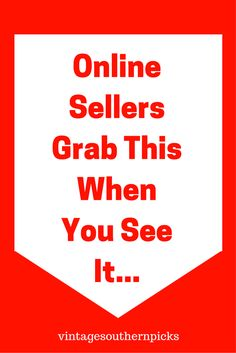 Online sellers, grab this when you see it is a tip I don't mind sharing for what is a good seller for me in my Etsy shop, or on Ebay. via @VSPicks