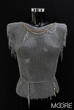 Nymph Top is hand-crafted from Stainless Steel, Swarovski Crystals and Brass chain detail. http://isabelmoore.com/products/nymph-top
