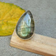 Beautiful Labradorite Sterling silver gemstone by FineSilverStudio