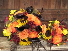 Autumn Wedding Bouquets | Fall Wedding and Vibrant Foliage in Vermont Fall wedding bouquets ...