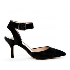 Olyvia DOrsay heel - Black - Perfect Shoe to transition to Spring! Big shoe trends: Ankle strap and D'Orsay style