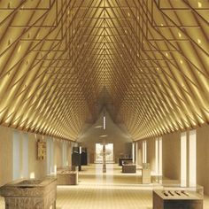 Repeated roof trusses - Niall McLaughlin-Auckland Castle-04