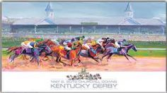 kentucky derby watercolor prints with hats - Bing images