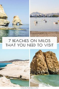 The best beaches in Milos Greece. This includes beaches like Kleftiko, Tsigrado and Firiplaka beach. These Milos beaches are all unique and beautiful! Europe Travel Tips, Travel Destinations, Greece Destinations, Travel Guides, Budget Travel, European Destination, European Travel, Destin Beach, Beach Trip