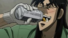 Kaiji and his magical bottomless beer Kaiji Anime, Kaiji Itou, Master Chief, Beer, Funny, Fictional Characters, Gifs, Root Beer, Ale