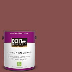 BEHR Premium Plus 1-gal. #160F-6 Boston Brick Zero VOC Eggshell Enamel Interior Paint