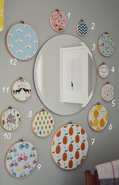 what a cute bright way to decorate a kid's room!