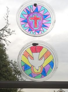 Flame: Creative Children's Ministry: Sharpie Stained Glass: Christian Symbols