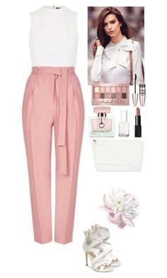 """""""Outfit"""" by eliza-redkina ❤ liked on Polyvore featuring Topshop, GUESS, Gucci, Skinnydip, Maybelline, Essie, NARS Cosmetics, outfit, like and look"""