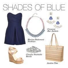 www.stelladot.com/karilinder Stella & Dot - Shades Of Blue #Stelladot #StelladotStyle #WomensFashion Polyvore