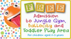 Fun Haven is now free for 0-3 year olds!
