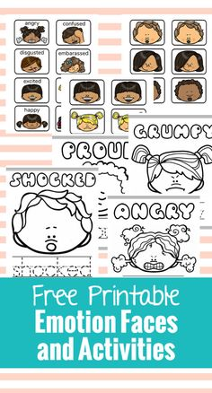 These Free Printable Emotion Faces are great for talking to your preschooler about their emotions. Just print these Emotions Cards and Emotions Activities Feelings Preschool, Free Preschool, Preschool Themes, Social Emotional Activities, Emotions Activities, Feelings Book, Feelings And Emotions, Emotions Cards, Understanding Emotions