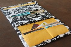 Wallet tutorial at http://www.bhg.com/crafts/sewing/accessories/easy-to-make-wallet/