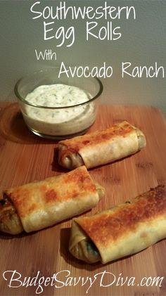 Southwestern Egg Rolls #egg_roll #recipe #recipes