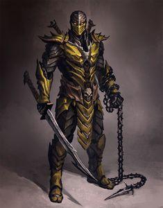 Mortal Kombat 9 - Kabal by FranjoGutierrez on DeviantArt Arte Ninja, Ninja Art, Warrior Concept Art, Armor Concept, Fantasy Armor, Dark Fantasy Art, Final Fantasy, Skorpion Mortal Kombat, Fantasy Character Design