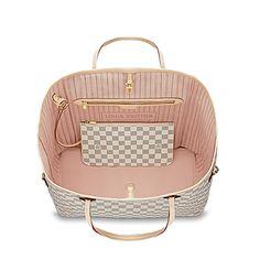 Neverfull GM - Damier Azur Canvas - Handbags | LOUIS VUITTON $1340 Health & Household : makeup http://amzn.to/2lD0uPz