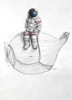 …but then she realised she couldn't take off her helmet… #onionaut #astronaut www.cincindos.com