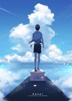 I felt so happy and inspired looking at this 😍 Rin Matsuoka, Haruka Nanase, Rei Ryugazaki, Otaku, Splash Free, Free Eternal Summer, Free Iwatobi Swim Club, Makoharu, Kyoto Animation
