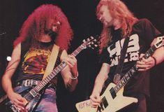 Jim Martin (Faith No More) and James Hetfield (Metallica)