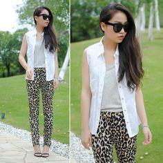 I like sexy leopard Leopard Pants, Celine, Alexander Wang, Parachute Pants, Mango, Animal, Heels, Sexy, Shirts
