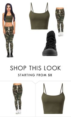 """""""Untitled #474"""" by mykira ❤ liked on Polyvore featuring Converse"""