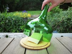 Queijeira Olive Wood Cheese Board and Recycled Wine Bottle Dome | Vozinha.com | #BuyPortuguese