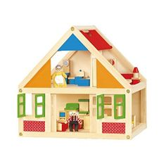 Dollhouses - Classical Wooden Dollhouse by Viga ** More info could be found at the image url.